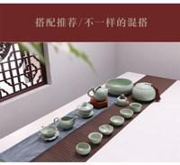 汝窯茶壺手工可養開片大號汝瓷單壺陶瓷功夫茶具家用泡茶器西施壺 (¥17)