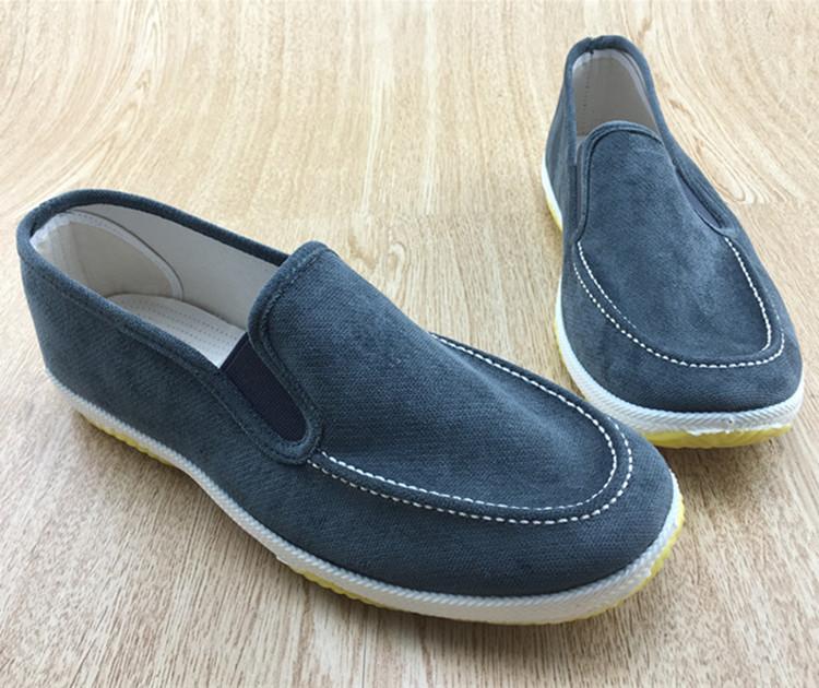 老北京布鞋男鞋舒適防滑透氣休閒軟底牛筋底開車一腳蹬單鞋工作鞋