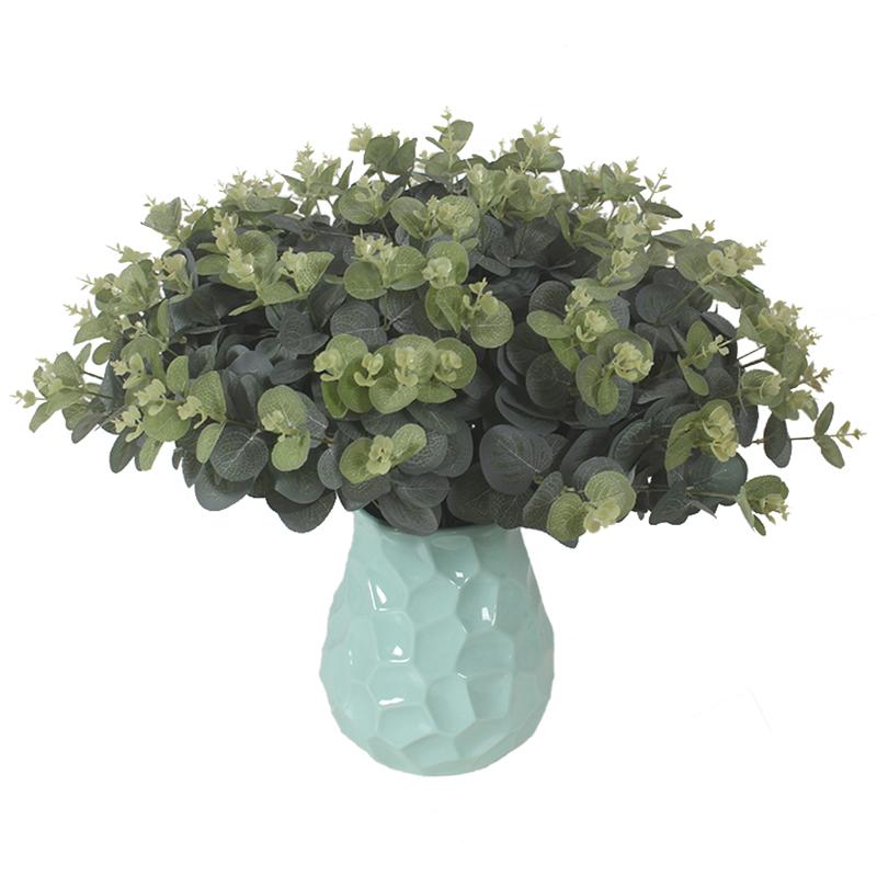 小金钱大叶子园艺插花 多头仿真金钱草尤加利假花绿植装饰花田园