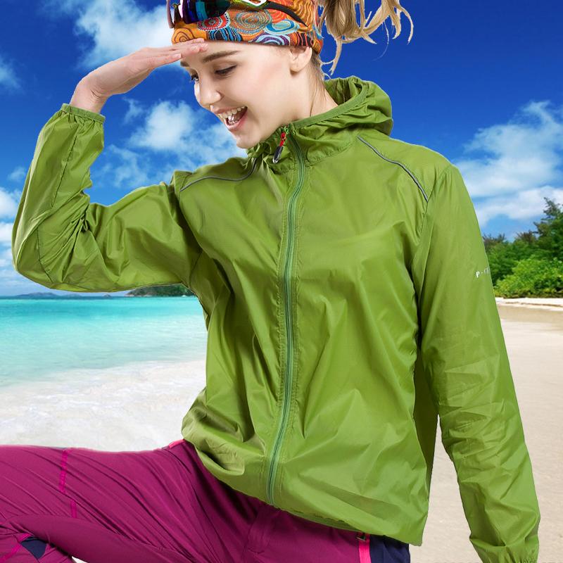 户外夏季情侣皮肤衣钓鱼服防晒衣男女超薄运动防风衣速干防雨外套