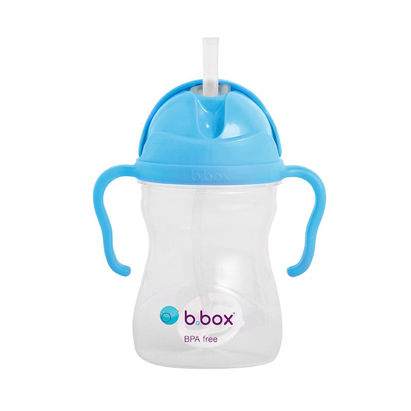 新版澳洲bbox吸管杯宝宝 重力球婴儿学饮杯带手柄儿童防漏带刻度
