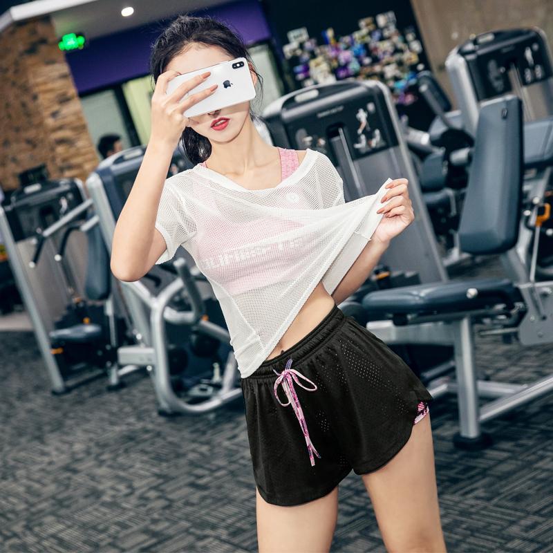 健身套装夏季女瑜伽服女夏性感健身房运动套装女网红健身服女跑步