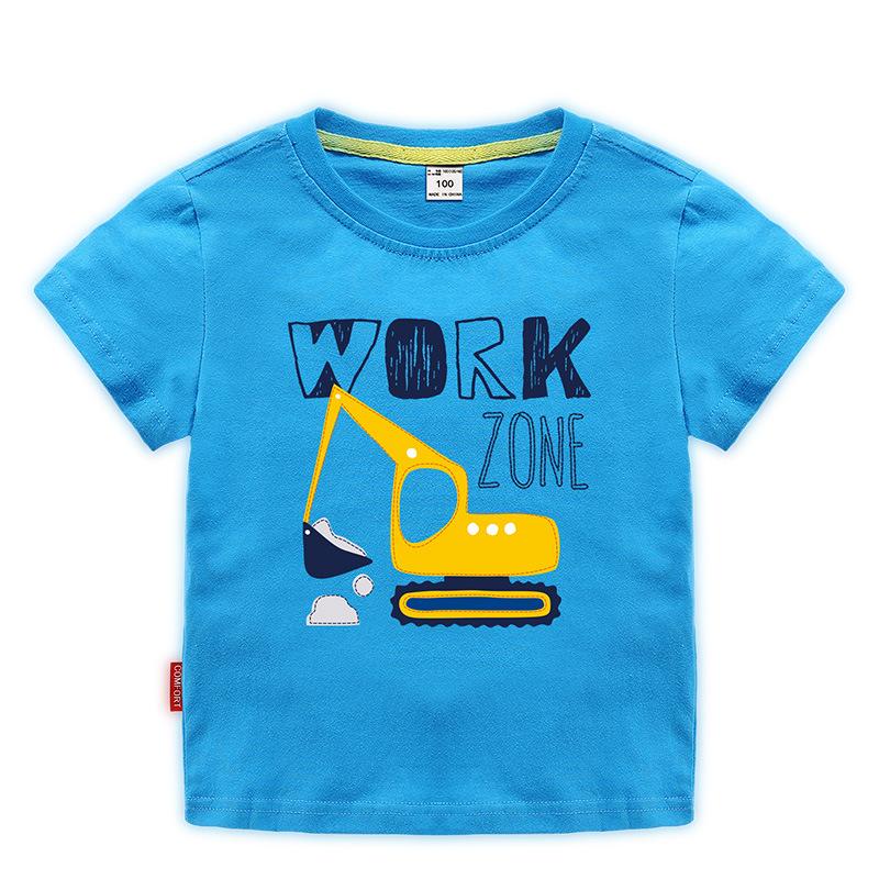 [淘寶網] 挖掘機圖案衣服1-6歲純棉鉤機圖案T恤卡通中小兒童裝男童短袖夏季