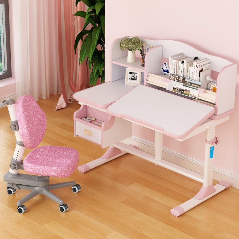 博士有成儿童书桌 学习桌可升降学生家用写字桌椅套装小学生课桌