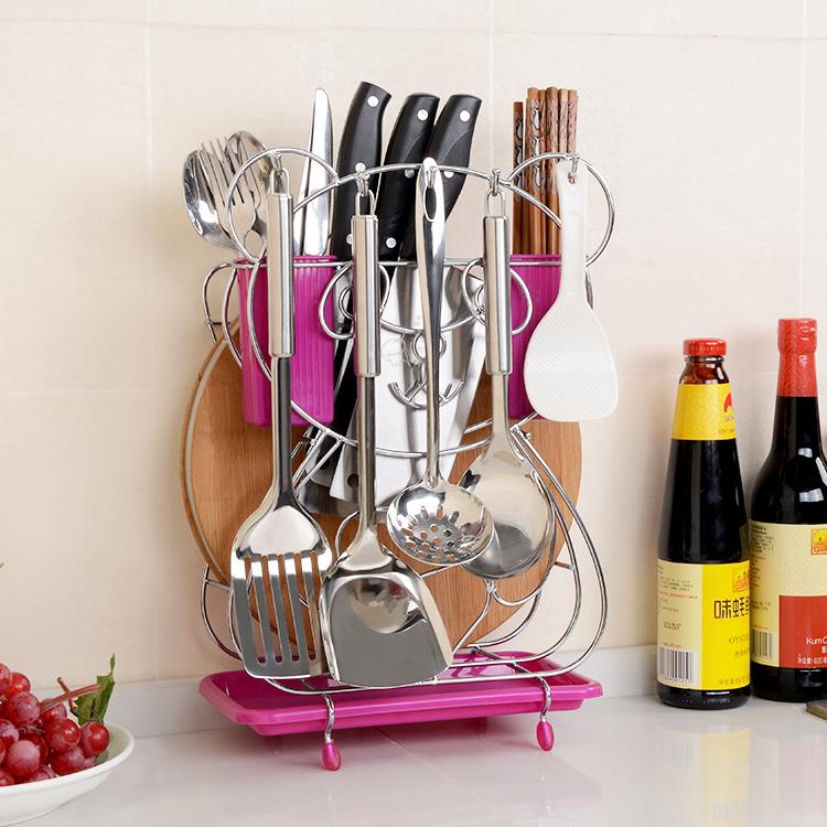 菜刀架家用厨房用品刀具架刀座菜板案板架厨具收纳架置物架放刀架
