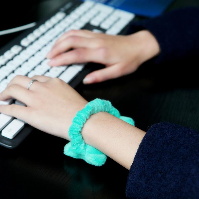松紧带手托腕托迷你鼠标护腕垫发带创意可爱手枕护腕托手腕垫鼠垫