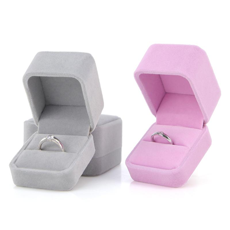 珠宝首饰盒高档绒布珠宝包装盒项链耳钉戒指盒子手镯吊坠手链盒