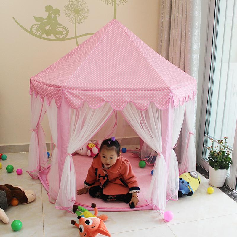 韩国六角儿童公主帐篷超大城堡游戏屋 室内外宝宝房子益智玩具屋