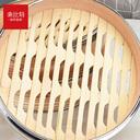 索比特手工蒸笼小笼包竹木家用小蒸格竹蒸屉钢边笼屉金属包边包子 - 4
