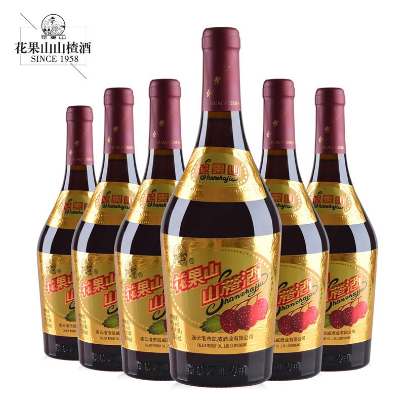 瓶 连云港特产老大肚利酒低度整箱果酒 花果山大肚山楂酒 6 720ml