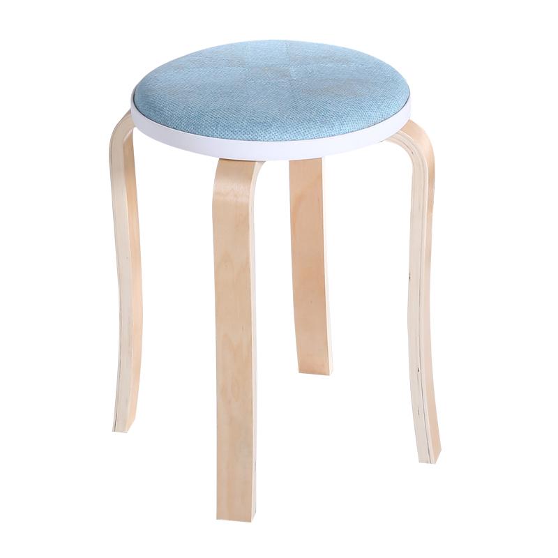 曲木凳小圆凳子时尚凳子彩色餐桌椅成人家用高板登加厚可叠放凳子