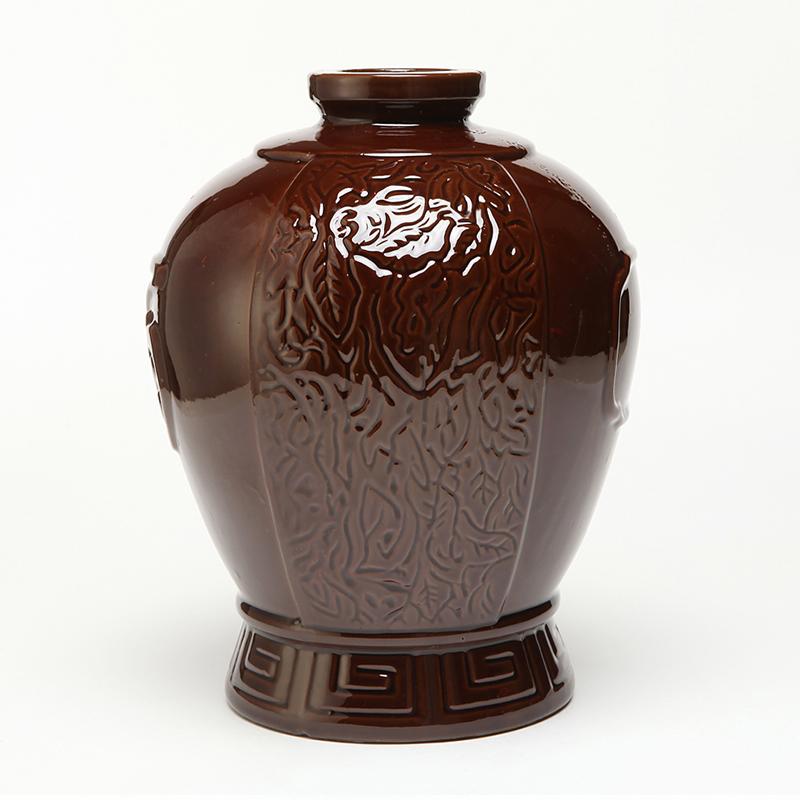 古苑陶瓷宜兴酒瓶批发10斤装带酒字枣红釉酒坛复古白酒黄酒泡酒瓶