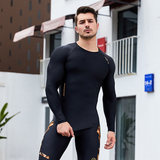a400 men's compression clothing running quick-drying breathable sports track and field basketball training fitness high elastic tight top