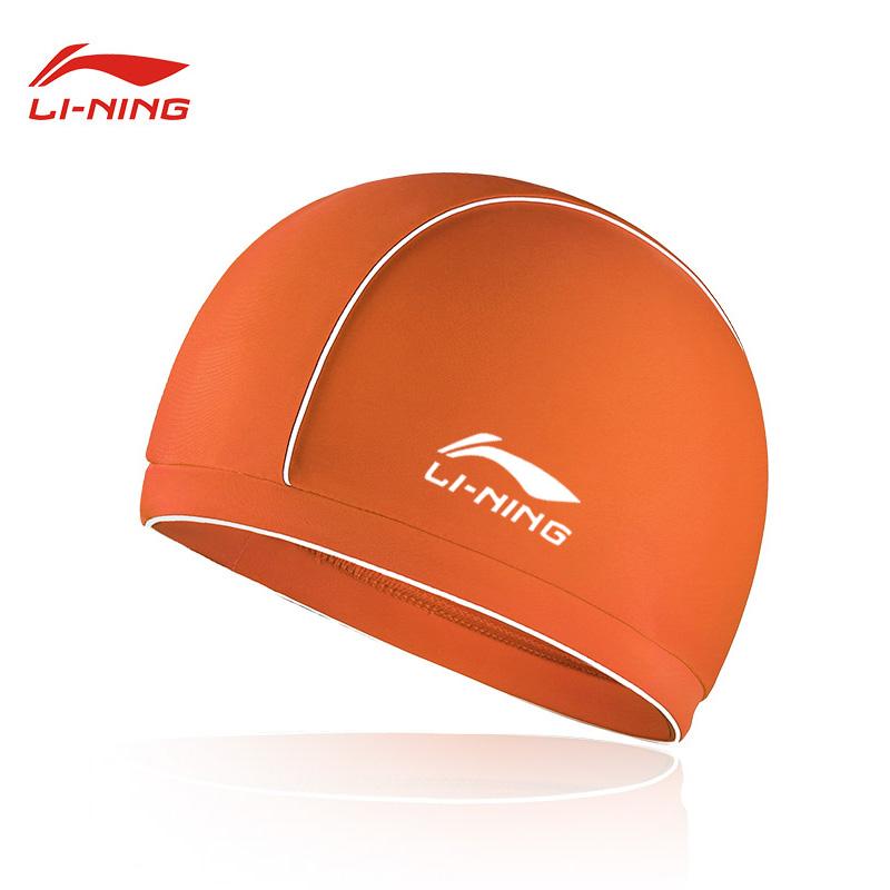 李宁泳帽男女布料舒适泳帽大号长发不勒头专业游泳帽子儿童装备