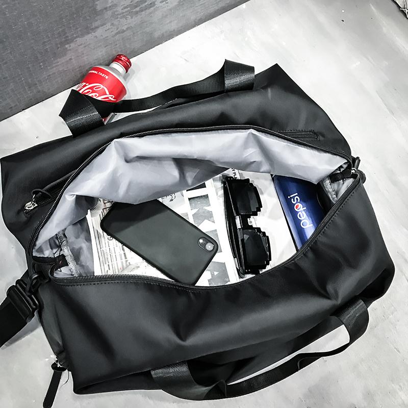 手提韩版轻便大容量短途旅行包运动训练包健身包男干湿分离游泳包