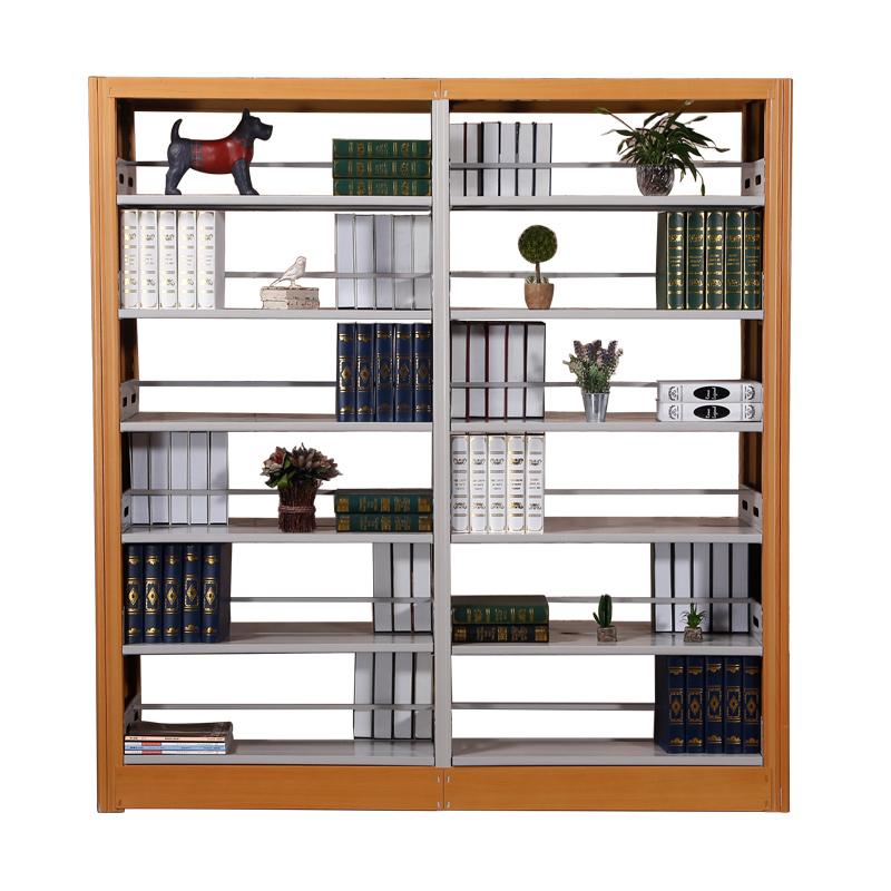 加厚钢制书架 图书馆单面双面书架 阅览室书架 书店书架 资料架子