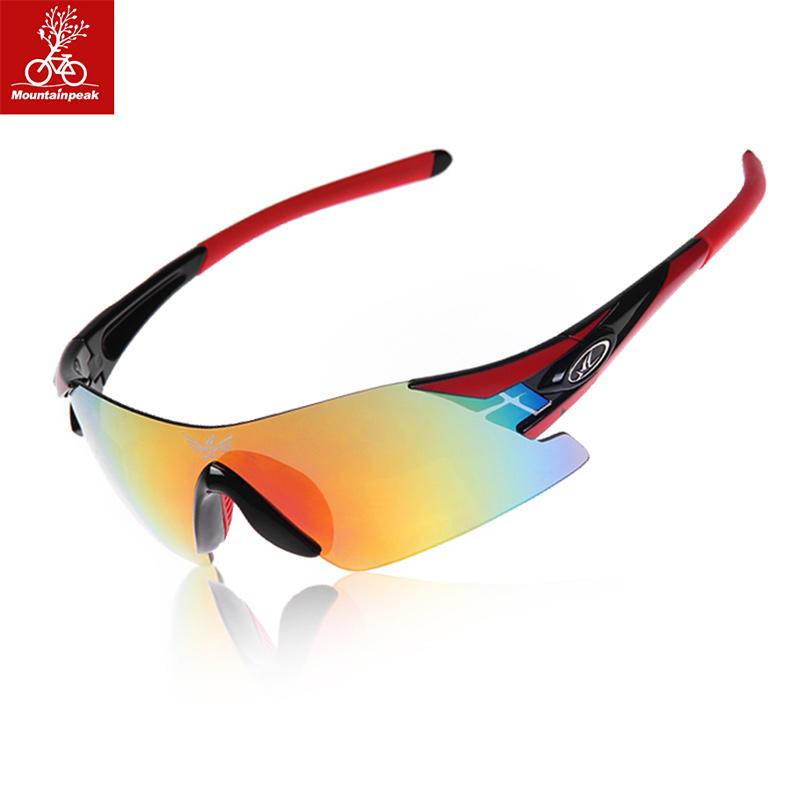 mountainpeak 騎行眼鏡偏光戶外運動自行車眼鏡 升級加厚5副鏡片
