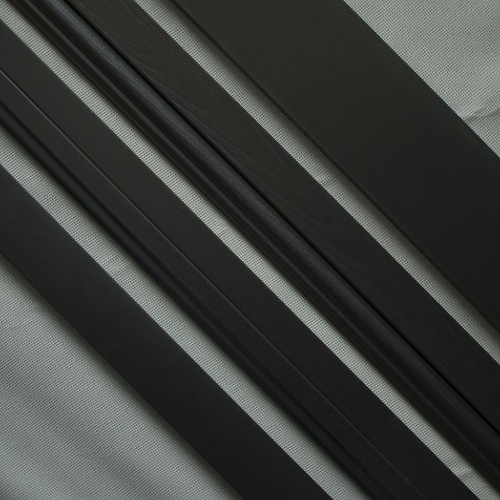 实木环保纯黑哑光极简约烤漆平面平板木纹烤漆地踢脚线装饰线条
