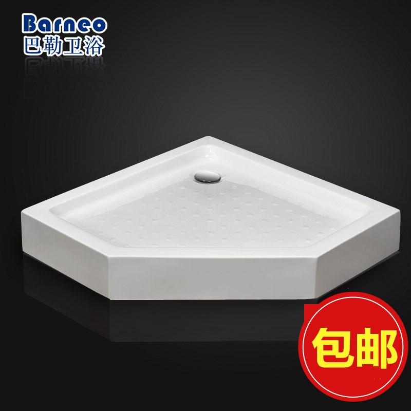淋浴房底盆底座弧扇形长方形亚克力加厚浴室防水底盘简易底座防滑