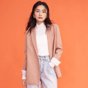 拉贝缇拉夏贝尔西装外套女2021春夏新款纯色宽松ins潮韩版小西装