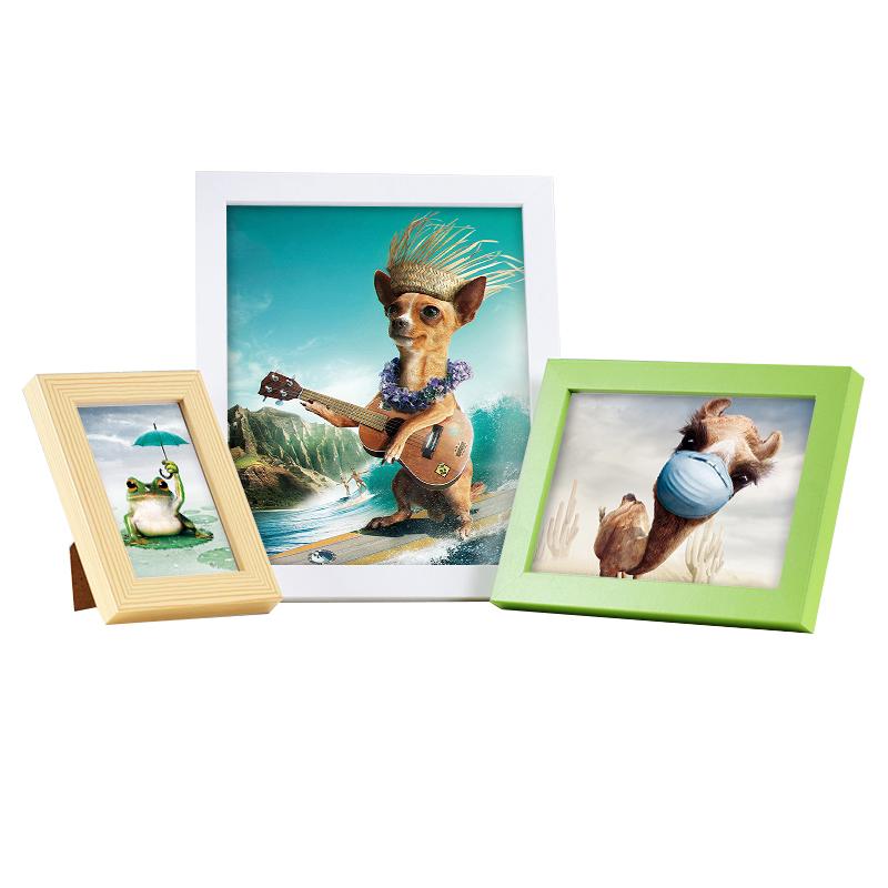 实木质相框挂墙摆台创意5 7 10 12 20 24寸A4 A3相片架画框照片墙