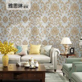 3D立体欧式壁纸浮雕奢华高档大马士革无纺布墙纸卧室客厅电视背景