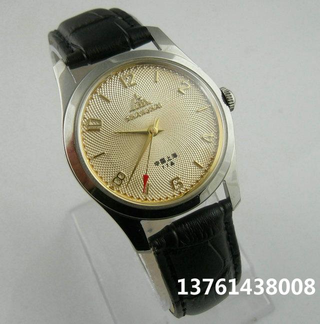 型螺纹表面手动机械表男士表 1120 经典上海品牌老款手表库存珍藏版