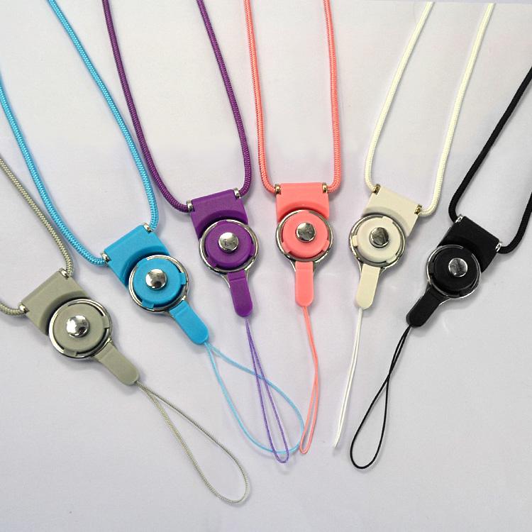 尼龙编织线坚韧耐用保护手机脖绳挂链旋转可拆卸钥匙扣挂绳批发