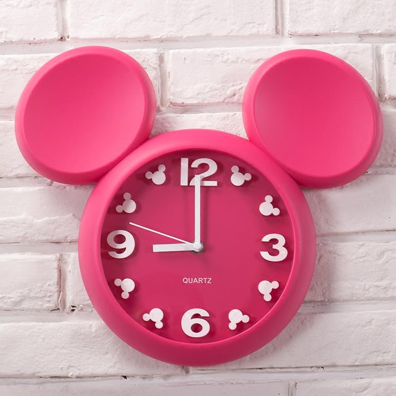 創意兒童房間掛鐘靜音時尚可愛藝術鐘錶現代簡約臥室時鐘卡通掛錶