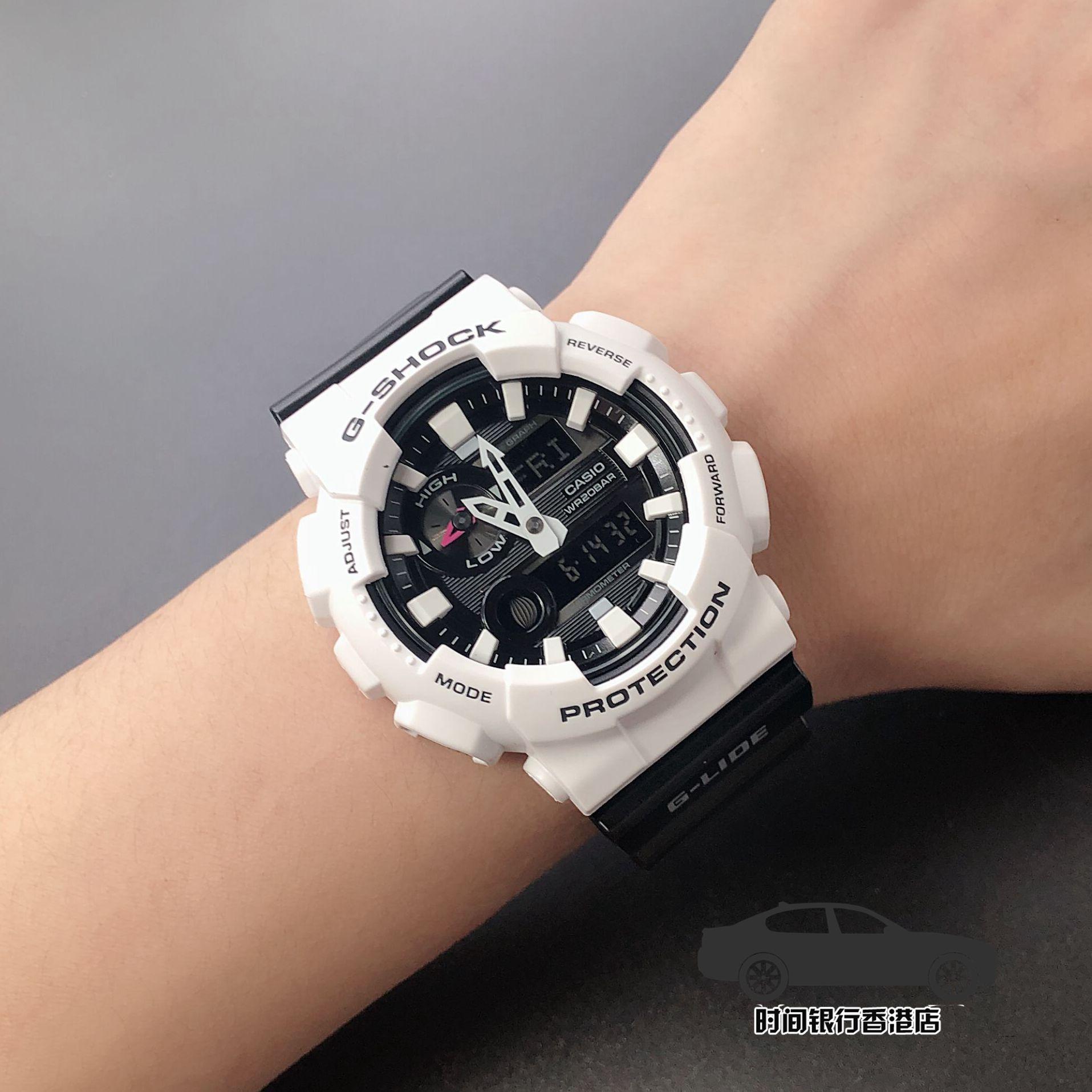 7 MW 7 110GW GA 男防水运动电子表白色奥利奥 SHOCK G 卡西欧手表