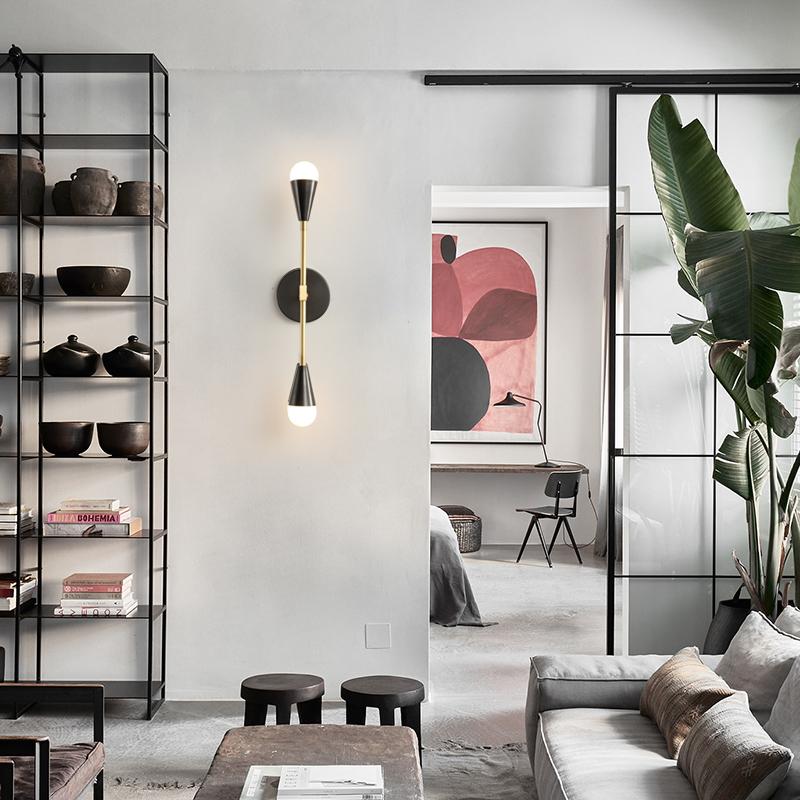 北欧创意个姓壁灯双头客厅过道走廊灯现代简约卧室床头镜前灯灯具