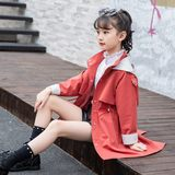 Girls in the ocean long windbreaker jacket spring and autumn big boy 2019 new fashion children windbreaker women jacket tide