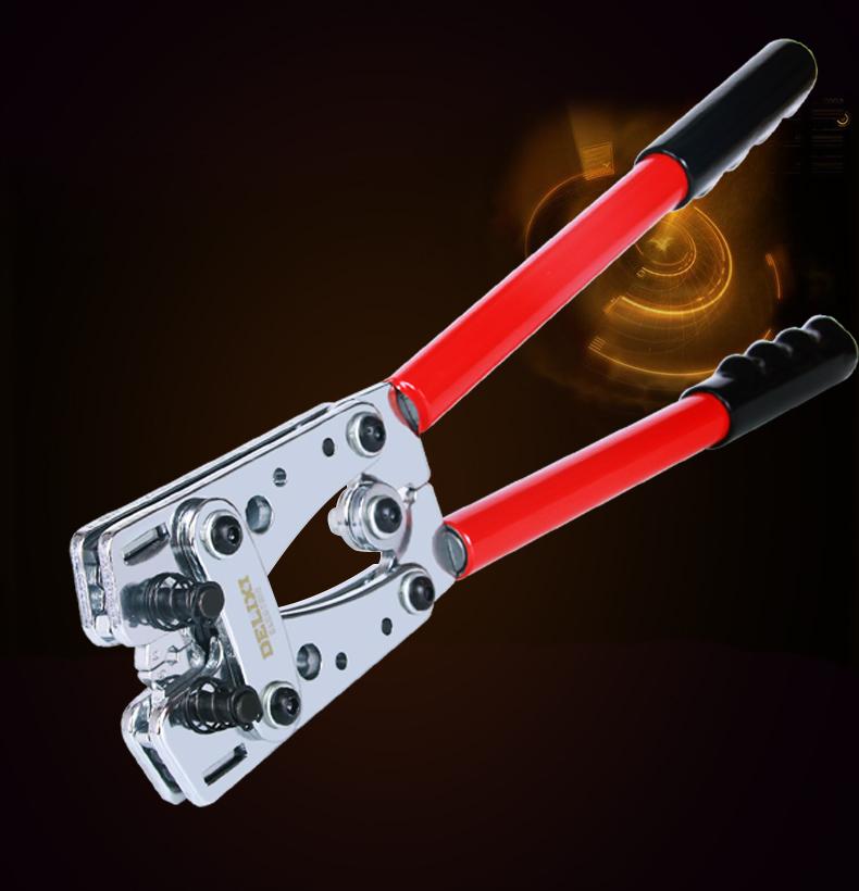 德力西压线钳机械钳压线钳铜铝鼻压接 手动省力压线钳6-50平方