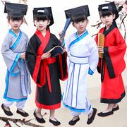 儿童书童演出服国学服装汉服古装幼儿园三字经弟子规孔子表演服装