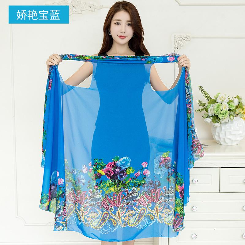 上海故事百变围巾披肩多功能新款魔术丝巾夏季防晒长款多用雪纺巾