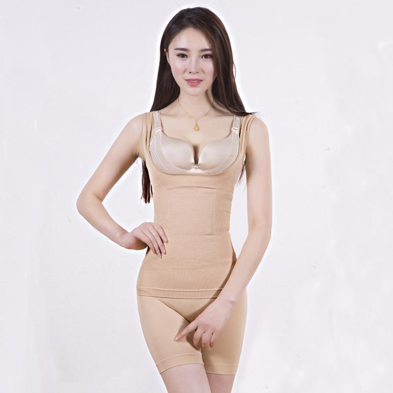 微商同款柏尚产后塑身衣收腹裤束缚衣束身塑形哺乳收腹衣分体套装