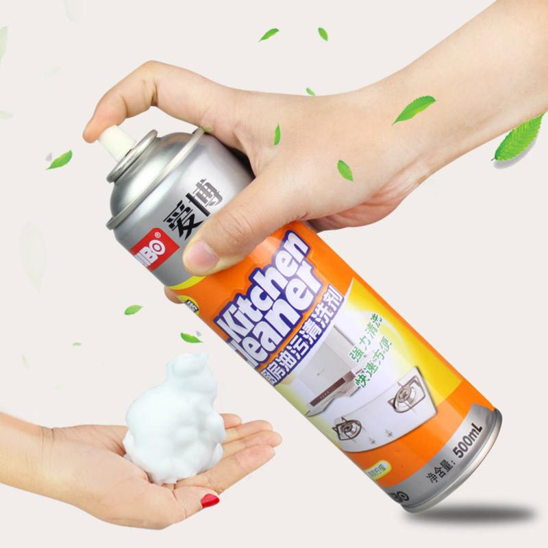 爱博厨房油污清洗剂抽油烟机家用强力去重油净除油神器泡沫清洁剂