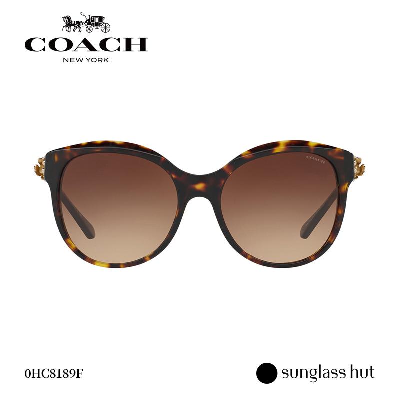 COACH/蔻驰 优雅花朵装饰时尚猫眼潮流女款经典太阳镜墨镜HC8189F