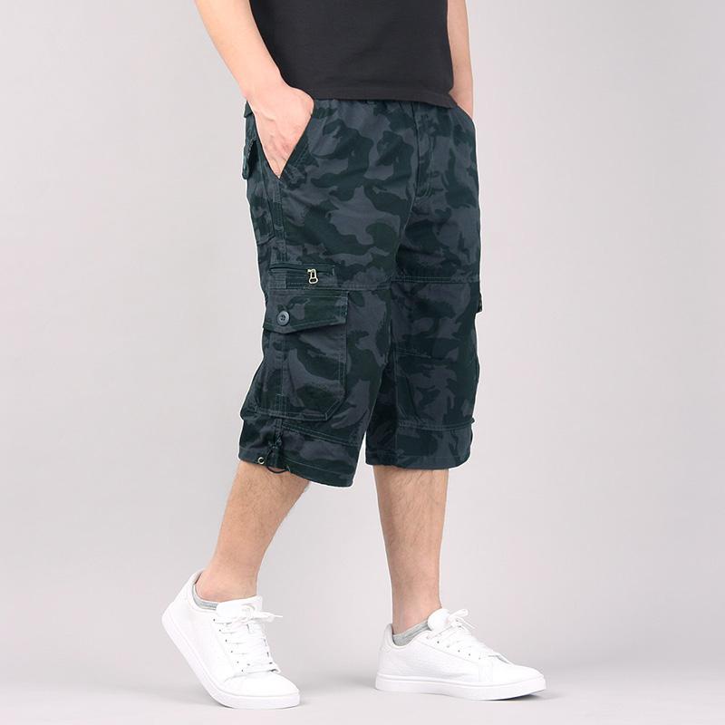 夏季工装裤裤直筒裤中裤休闲裤运动裤男士宽松短裤六分裤潮流裤子