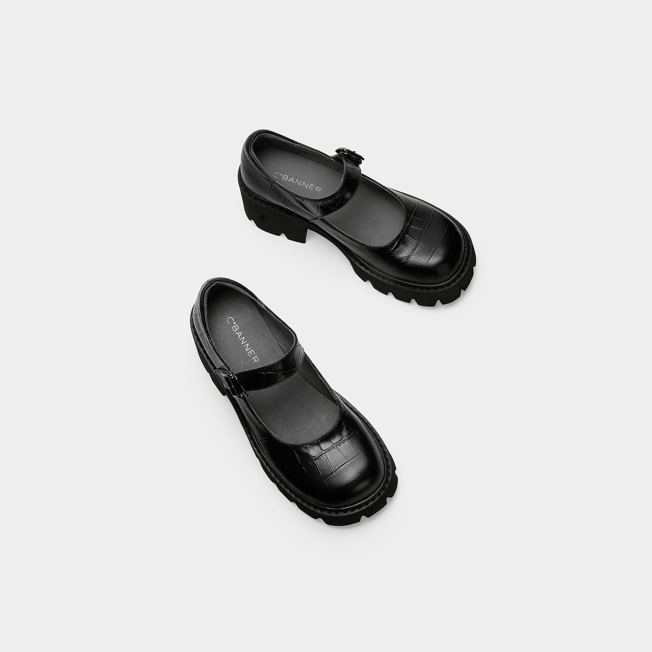 年夏季新款新款玛丽珍鞋女复古厚底日系学院风单鞋 2021 千百度女鞋