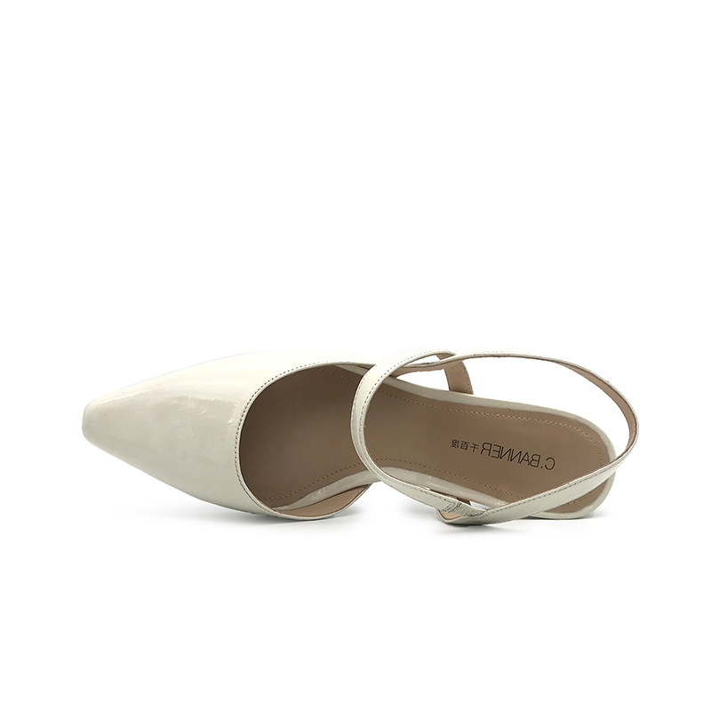 A9290701WX 夏季新品尖头粗跟半凉鞋气质优雅女凉鞋 2019 千百度女鞋