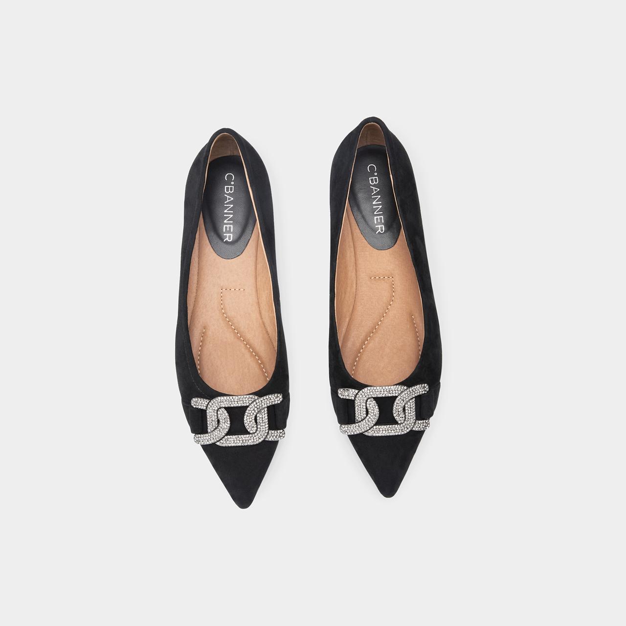 秋季新款单鞋优雅仙女风绒面气质低跟鞋尖头浅口 2021 千百度女鞋