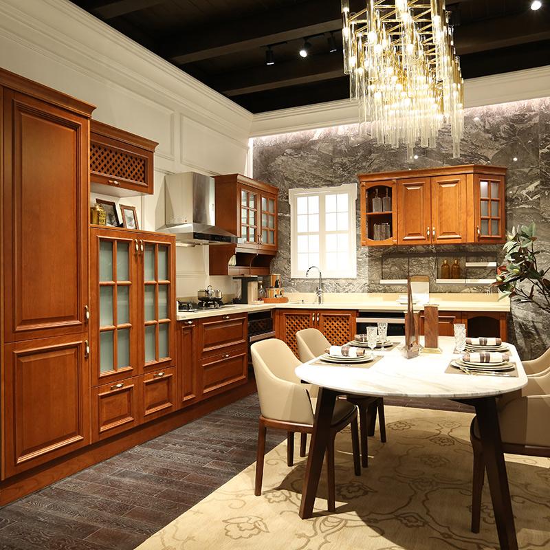 欧派厨柜定做整体欧式风格厨房装修实木厨柜组装吉米尼亚预付金