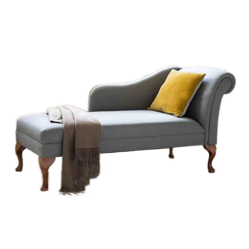 美式布艺贵妃椅小户型卧室休闲贵妃榻欧式贵妃沙发阳台美人榻躺椅