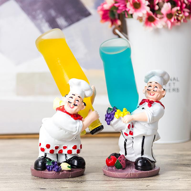 红酒架装饰品酒柜摆件家居欧式客厅现代简约厨师创意家庭玄关摆设