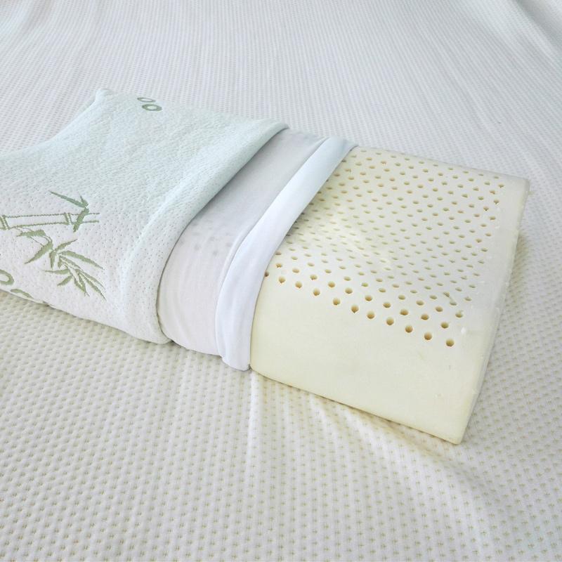 泰国进口原料天然乳胶枕头儿童微瑕疵颈椎护颈按摩枕成人单人枕芯