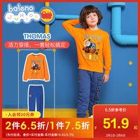 班尼路童装2019秋冬新款托马斯和朋友男童卫衣红色儿童长袖上衣潮 (¥80)