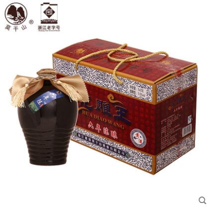 坛半干型黄酒箱装手提多省包邮花雕酒礼盒装 2 × 1L 莫干山六年陈