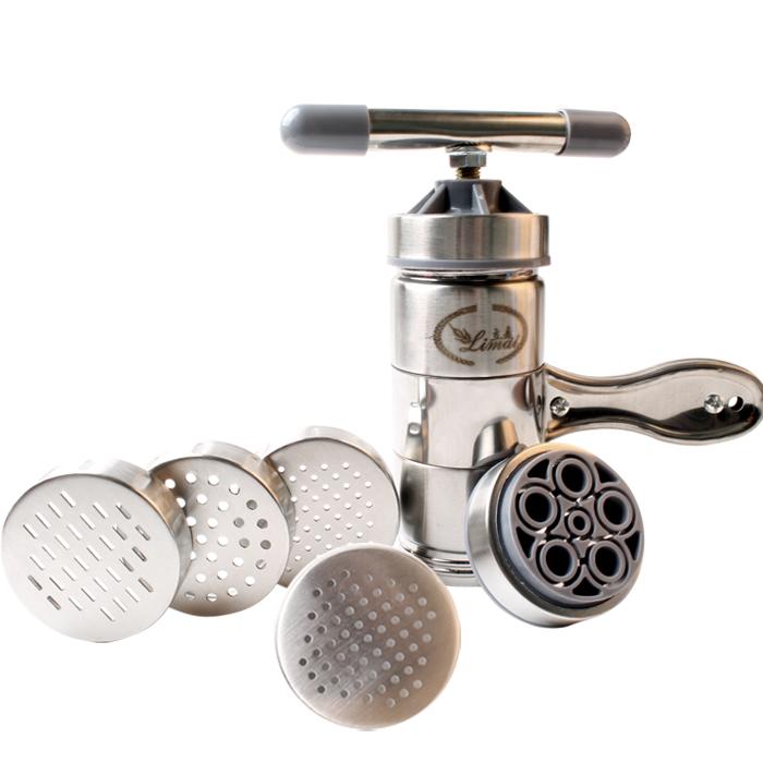 家用面条机不锈钢手动5头压面机小型多功能压面器手摇拧压汁机器