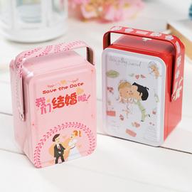 星空结婚礼婚庆喜糖盒子批发欧式长方形马口铁糖果饼干礼品盒大号
